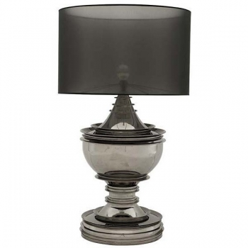 Eichholtz Design Floor Lamp Salon, black nickeled/organza shade black Ø 70 cm, h 120 x Ø 50 cm