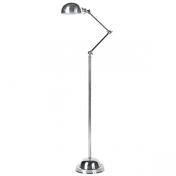 Eichholtz Design Floor Lamp Solo, nickeled, shade Ø 15 cm, h 140 x Ø foot 20 cm
