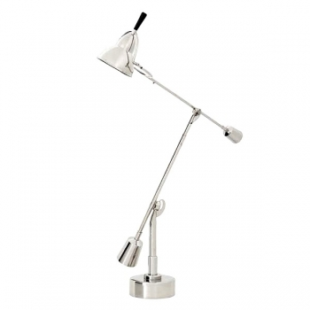 Eichholtz Design Table Lamp Crane, nickeled, shade Ø 12 cm, h 90 x Ø foot 12 cm