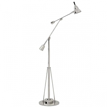 Eichholtz Design Floor Lamp Crane, nickeled, shade Ø 12 cm, h 168 x Ø foot 24 cm