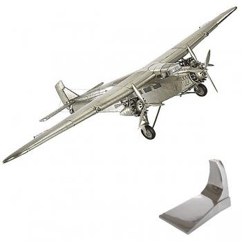 Flugzeugmodell Ford Trimotor, detailgetreue Ausführung, mit Standfuß, L 67 x B 102  x H 20 cm