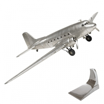 Airplane Model Dakota DC-3, detailed design, with stand, l 64.5 x w 97 x h 17 cm