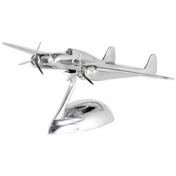 Eichholtz Airplane Model Fokker Dixieland with stand, polished aluminium, l 36 x w 60 x h 23 cm