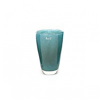 Collection DutZ® Vase, h 21 cm x Ø 13 cm, bleu petrol