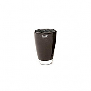 Collection DutZ® Vase, h 18 cm x Ø 12 cm, noir