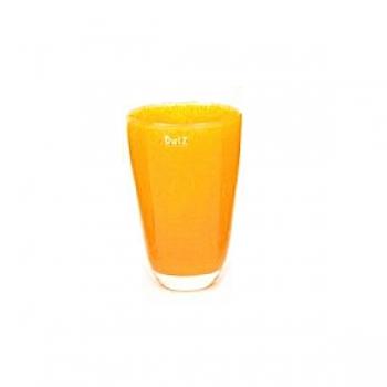 Collection DutZ® Vase, h 21 cm x Ø 13 cm, orange jaune