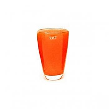 Collection DutZ® Vase, h 21 cm x Ø 13 cm, orange rouge