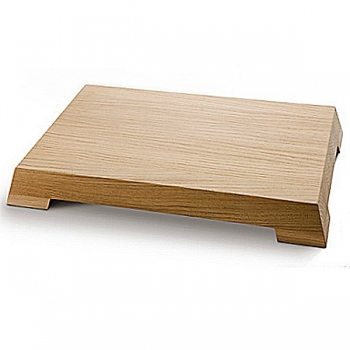 Del Ben Design Serving Board/Cutting Board, solid beech, l 40/36 x w 26/23 x h 5 cm