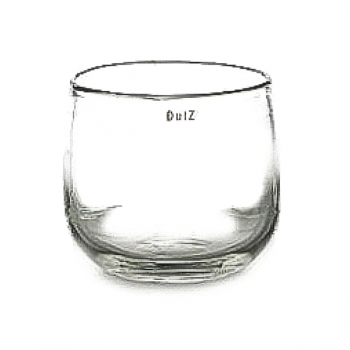Collection DutZ® vase/récipient Pot, h 22 x Ø 25 cm, transparent