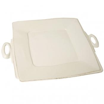 Virginia Casa Linea Lastra, 1 serving plate square, Bianco, l 33 x w 33 cm