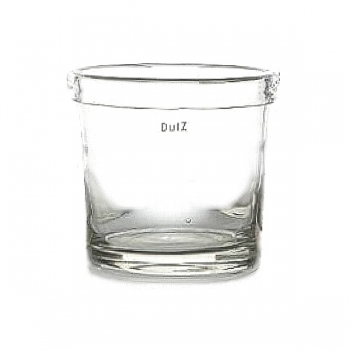 DutZ®-Collection Vase Conic, with folded rim, h 25 x Ø 22 cm, clear