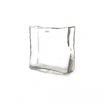 Collection DutZ® vase/récipient rectangulaire, h 20 x L 20  x l 5 cm, transparent