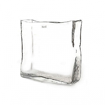 Collection DutZ® vase/récipient rectangulaire, h 22 x L 25  x l 8 cm, transparent
