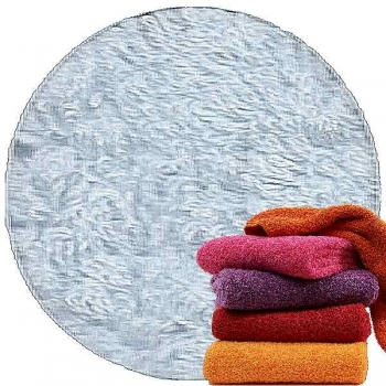 Abyss & Habidecor Super Pile Terry Cloth Guest Towel, 30 x 50 cm, 100% Egyptian Giza 70 Cotton, 700g/m², 330 Powder Blue