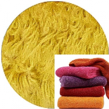 Abyss & Habidecor Super Pile Terry Cloth Guest Towel, 30 x 50 cm, 100% Egyptian Giza 70 Cotton, 700g/m², 850 Safran