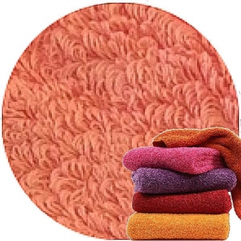 Abyss & Habidecor Super Pile Terry Cloth Guest Towel, 30 x 50 cm, 100% Egyptian Giza 70 Cotton, 700g/m², 680 Salmon