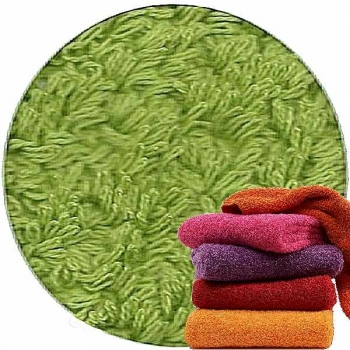 Abyss & Habidecor Super Pile Terry Cloth Towel, 55 x 100 cm, 100% Egyptian Giza 70 Cotton, 700g/m², 165 Apple Green
