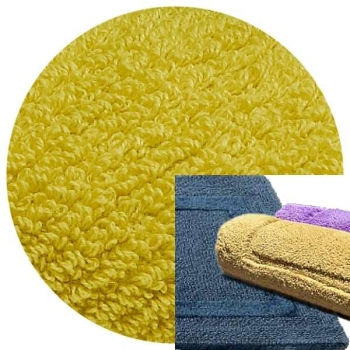 Abyss & Habidecor Bath Mat Reversible, 50 x 80 cm, 100% Egyptian Combed Cotton, 211 Citronelle
