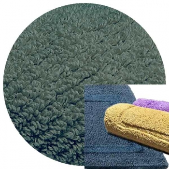 Abyss & Habidecor Bath Mat Reversible, 50 x 80 cm, 100% Egyptian Combed Cotton, 306 Bluestone