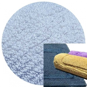 Abyss & Habidecor Bath Mat Reversible, 50 x 80 cm, 100% Egyptian Combed Cotton, 330 Powder Blue