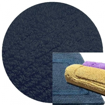 Abyss & Habidecor Bath Mat Reversible, 50 x 80 cm, 100% Egyptian Combed Cotton, 332 Cadette Blue