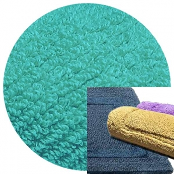 Abyss & Habidecor Bath Mat Reversible, 50 x 80 cm, 100% Egyptian Combed Cotton, 370 Turqoise