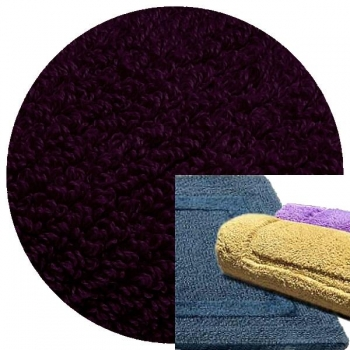 Abyss & Habidecor Bath Mat Reversible, 50 x 80 cm, 100% Egyptian Combed Cotton, 490 Purple