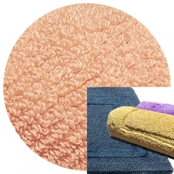 Abyss & Habidecor Bath Mat Reversible, 50 x 80 cm, 100% Egyptian Combed Cotton, 501 Pink Lady