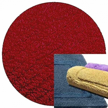 Abyss & Habidecor Bath Mat Reversible, 50 x 80 cm, 100% Egyptian Combed Cotton, 502 Hibiscus