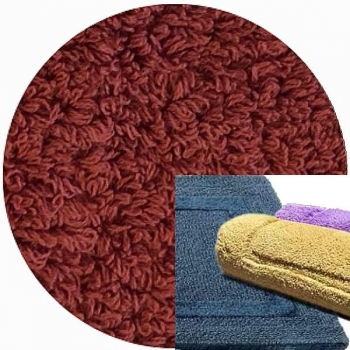 Abyss & Habidecor Bath Mat Reversible, 50 x 80 cm, 100% Egyptian Combed Cotton, 670 Tandori