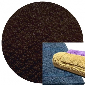 Abyss & Habidecor Bath Mat Reversible, 50 x 80 cm, 100% Egyptian Combed Cotton, 772 Dark Brown