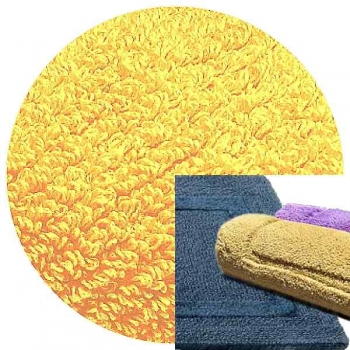 Abyss & Habidecor Bath Mat Reversible, 50 x 80 cm, 100% Egyptian Combed Cotton, 830 Banane