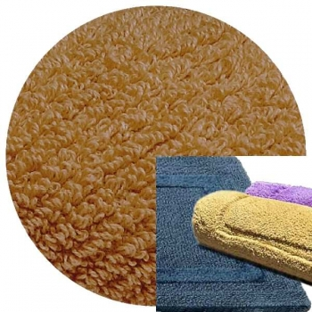 Abyss & Habidecor Bath Mat Reversible, 50 x 80 cm, 100% Egyptian Combed Cotton, 840 Gold