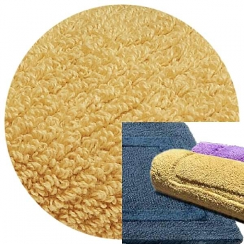Abyss & Habidecor Bath Mat Reversible, 50 x 80 cm, 100% Egyptian Combed Cotton, 885 Camel
