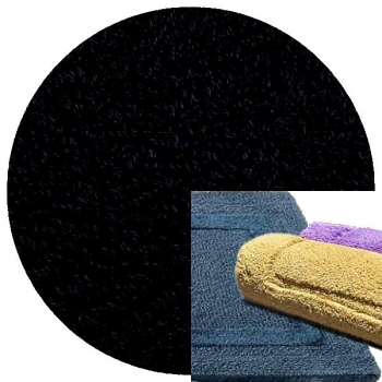 Abyss & Habidecor Bath Mat Reversible, 50 x 80 cm, 100% Egyptian Combed Cotton, 990 Black