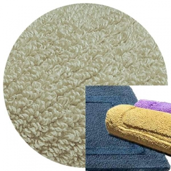 Abyss & Habidecor Bath Mat Reversible, 50 x 80 cm, 100% Egyptian Combed Cotton, 992 Platinum