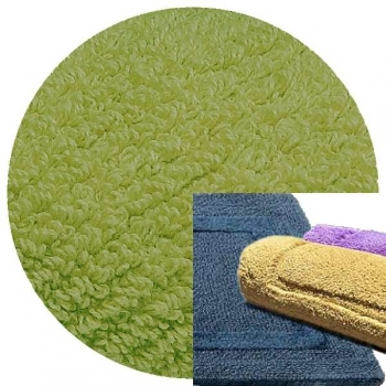Abyss & Habidecor Bath Mat Reversible, 60 x 100 cm, 100% Egyptian Combed Cotton, 165 Apple Green
