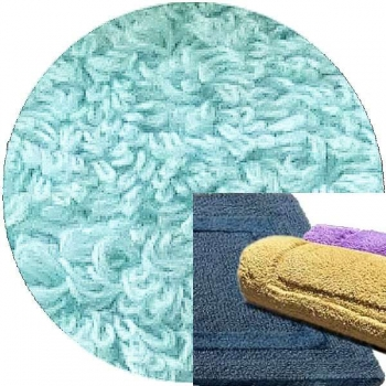 Abyss & Habidecor Bath Mat Reversible, 60 x 100 cm, 100% Egyptian Combed Cotton, 235 Ice
