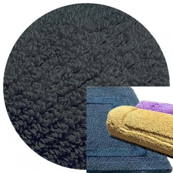 Abyss & Habidecor Bath Mat Reversible, 60 x 100 cm, 100% Egyptian Combed Cotton, 307 Denim