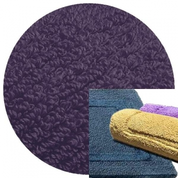 Abyss & Habidecor Bath Mat Reversible, 60 x 100 cm, 100% Egyptian Combed Cotton, 420 Lilas