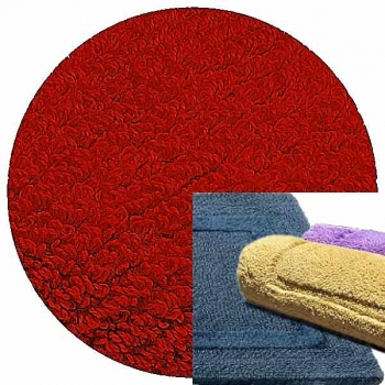 Abyss & Habidecor Bath Mat Reversible, 60 x 100 cm, 100% Egyptian Combed Cotton, 553 Rouge