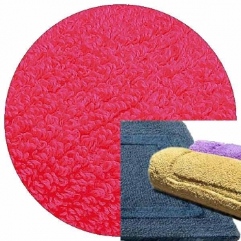 Abyss & Habidecor Bath Mat Reversible, 60 x 100 cm, 100% Egyptian Combed Cotton, 570 Happy Pink