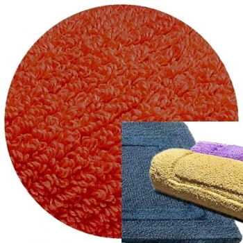Abyss & Habidecor Bath Mat Reversible, 60 x 100 cm, 100% Egyptian Combed Cotton, 603 Spicy