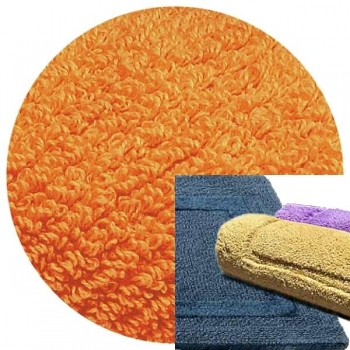 Abyss & Habidecor Bath Mat Reversible, 60 x 100 cm, 100% Egyptian Combed Cotton, 635 Orange