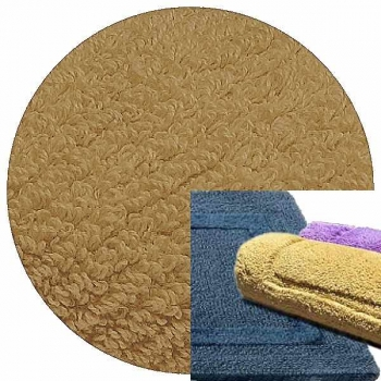 Abyss & Habidecor Bath Mat Reversible, 60 x 100 cm, 100% Egyptian Combed Cotton, 711 Taupe