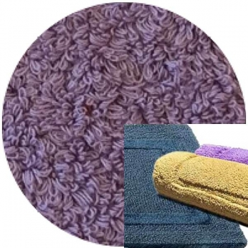 Abyss & Habidecor Bath Mat Reversible, 60 x 100 cm, 100% Egyptian Combed Cotton, 440 Orchid