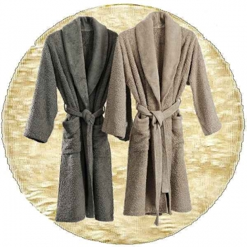 Abyss & Habidecor Super Pile Bath Robe, 100% Egyptian Giza 70 cotton, 700 g/m², Size L, 101 Ecru