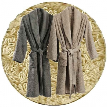 Abyss & Habidecor Super Pile Bath Robe, 100% Egyptian Giza 70 cotton, 700 g/m², Size L, 770 Linen