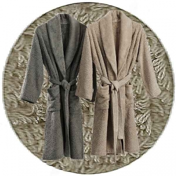 Abyss & Habidecor Super Pile Bath Robe, 100% Egyptian Giza 70 cotton, 700 g/m², Size L, 940 Atmosphere