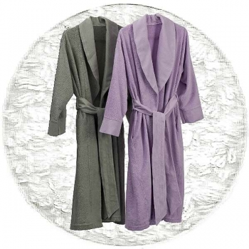 Abyss & Habidecor Amigo Bath Robe, 100% Egyptian Giza 70 cotton, 400 g/m², Size M, 100 White